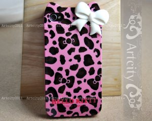 Hello Kitty leopard case etsy 10e