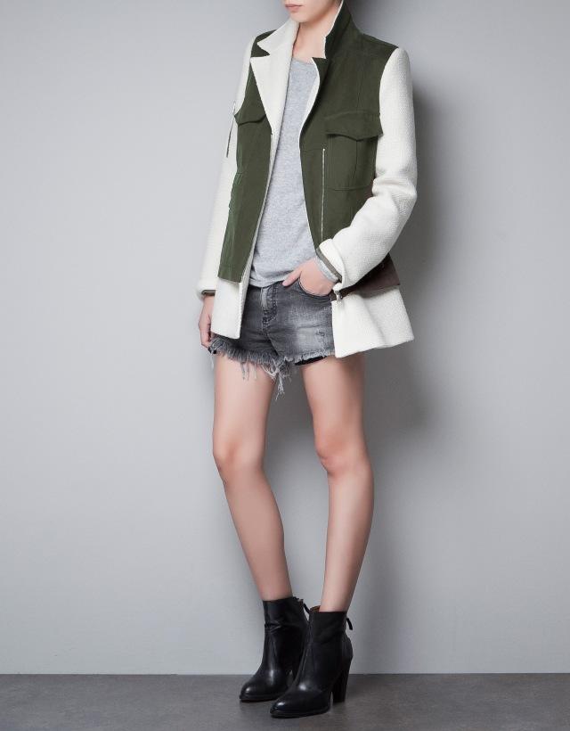 "Veste longue bimatière ""Zara"" 79,95e"