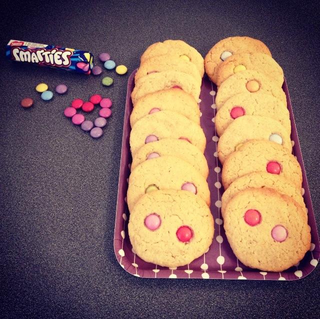 Biscuits aux smarties