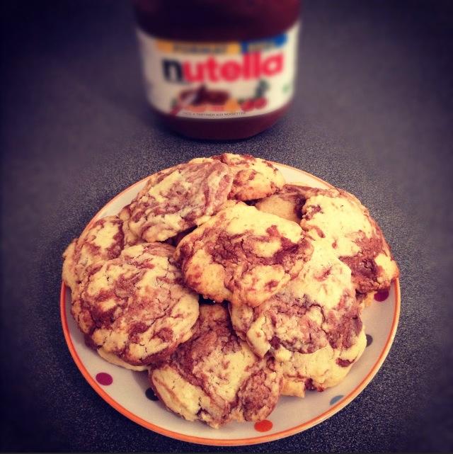 Sablés Nutella-noisettes