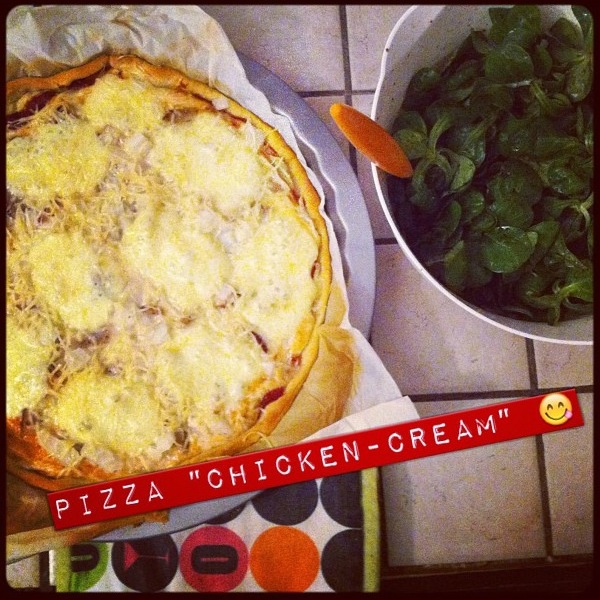 pizza chicken-cream