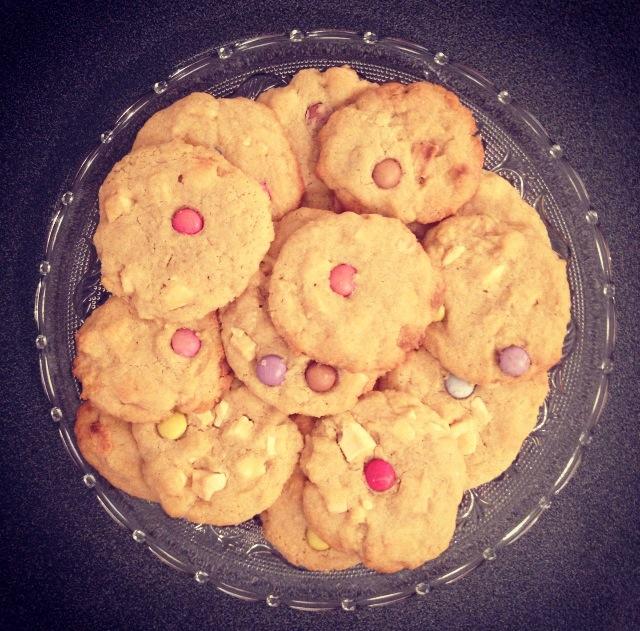 Cookies choco blanc-smarties