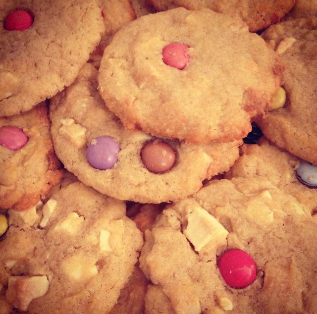 Cookies choco-blanc smarties