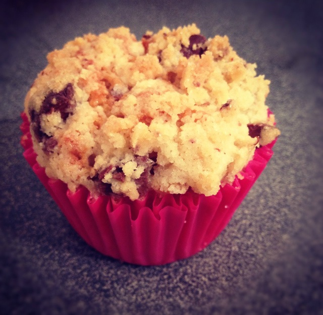 Muffins aux pommes, crumble chocolat