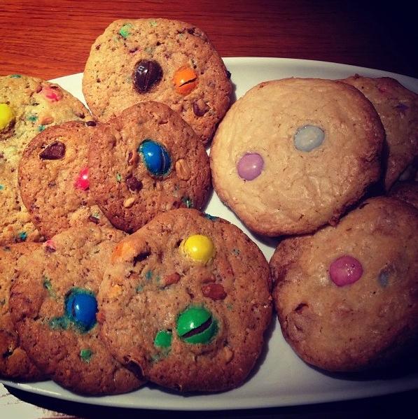 Cookies smarties chocolat blanc