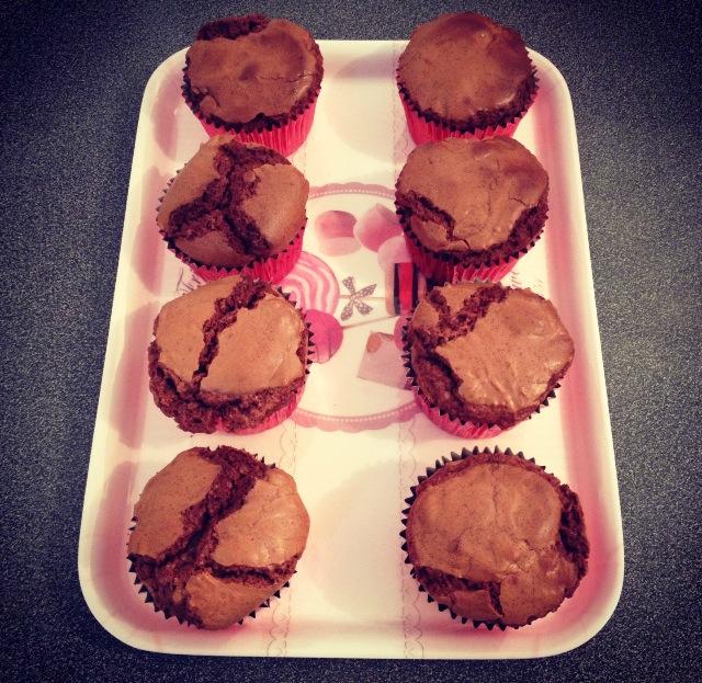Minis brownies coeur banania