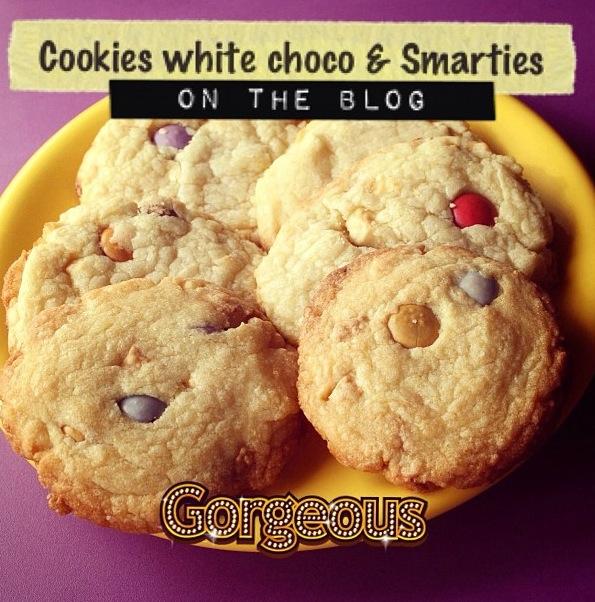 Cookies chocolat blanc et smarties