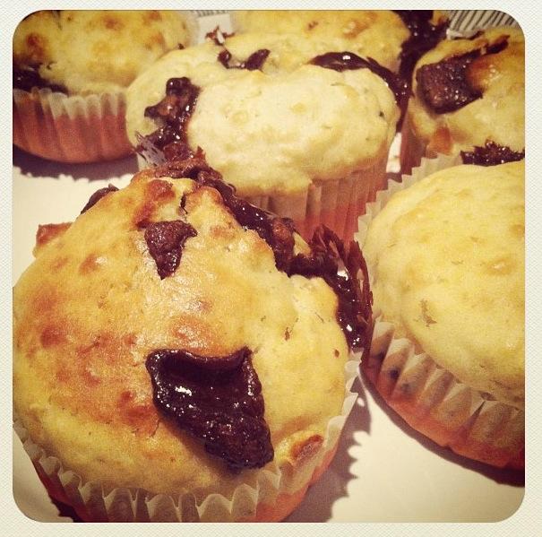 Muffins aux flocons d'avoine et chocolat