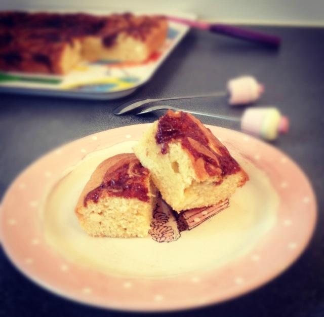 Gâteau chocolat blanc et caramel