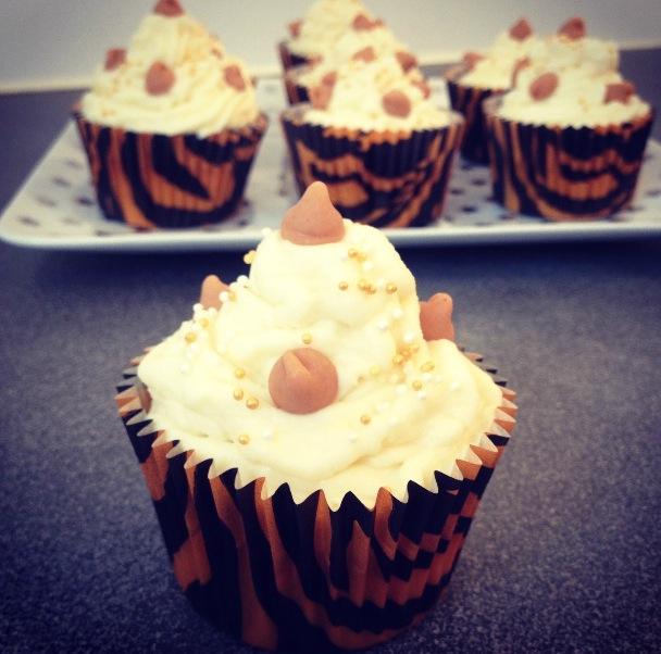 Cupcakes chocolat blanc pépites Reese's
