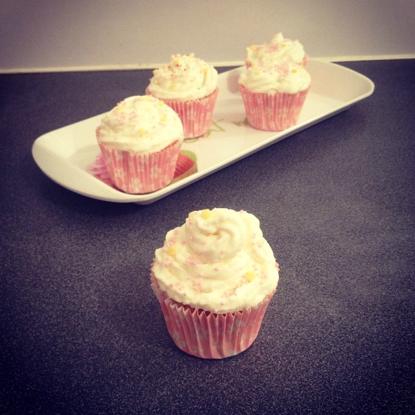 Cupcakes citron vert-noix de coco