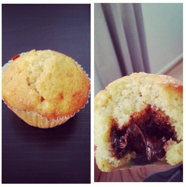 Muffins banane nutella