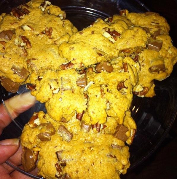 Cookies pécans-chocolat-caramel