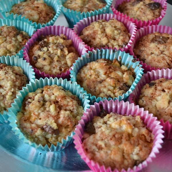 Muffins pommes crumble
