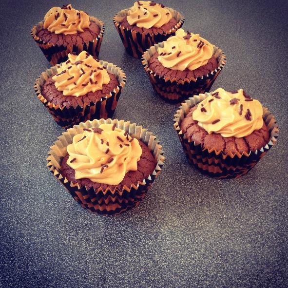 Cupcakes brownies beurre de cacahuètes