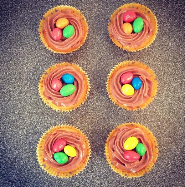 Cupcakes aux m&m's