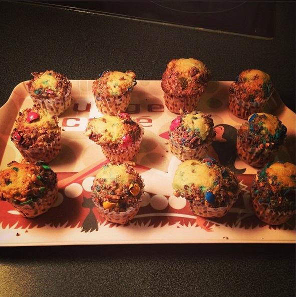 Muffins m&m's-coco