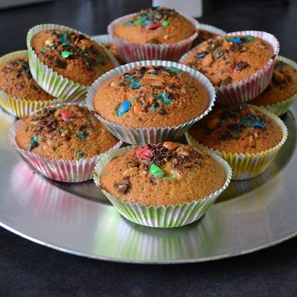 Muffins m&m's coco