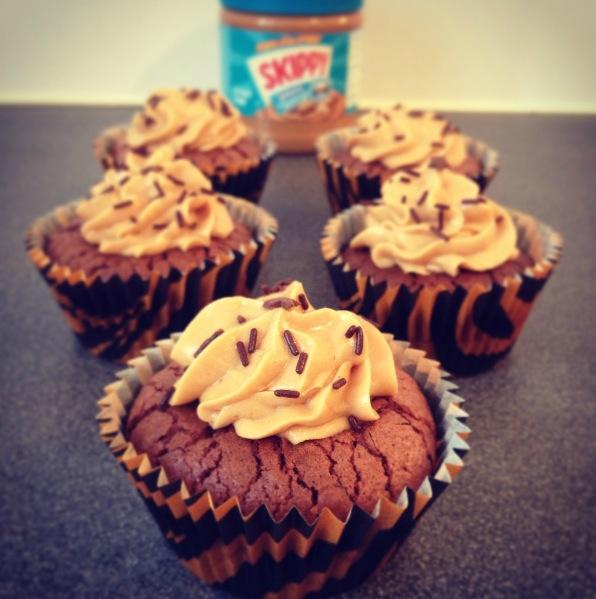 Cupcakes brownies cacahuètes