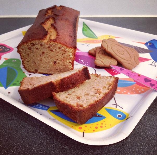 Cake spéculoos-chocolat blanc