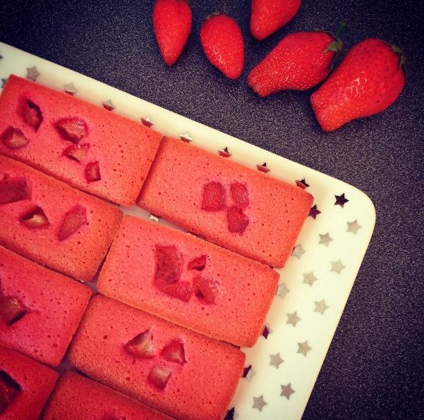 financiers aux fraises