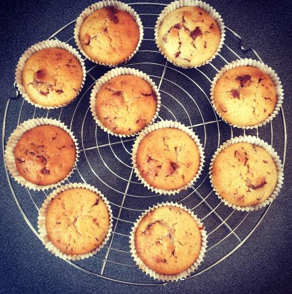 Muffins aux Kitkat