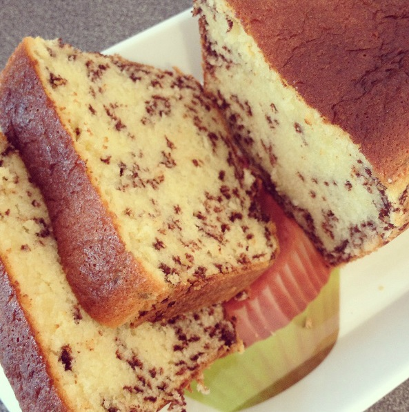 Cake aux vermicelles de chocolat