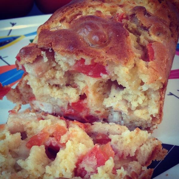 Cake poulet-mozzarella-tomates