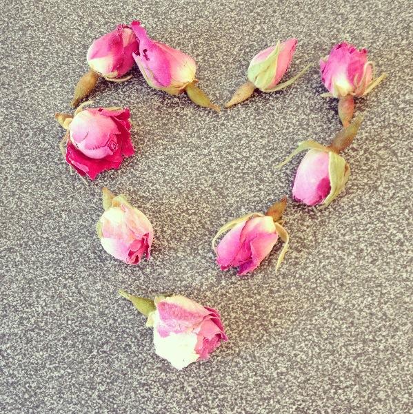 Boutons de roses séchées