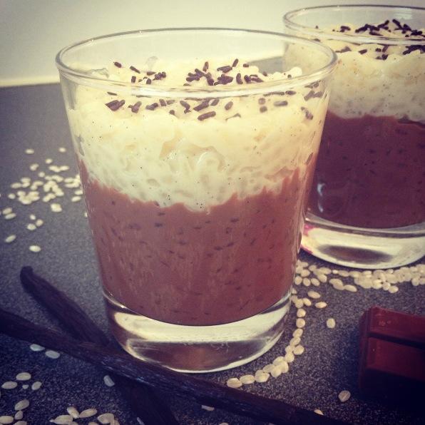 Riz au lait façon chocolat liégeois