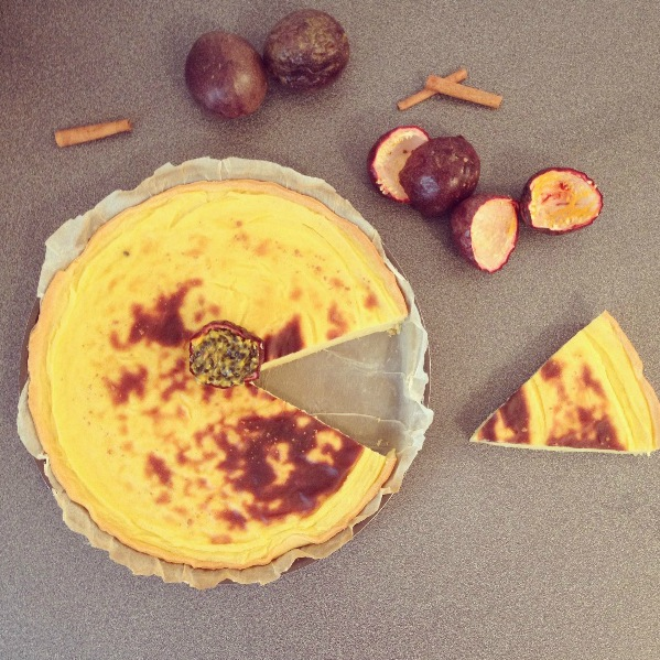 Tarte pâtissière aux fruits de la passion