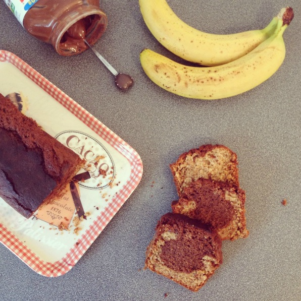 Marbré banana bread Nutella