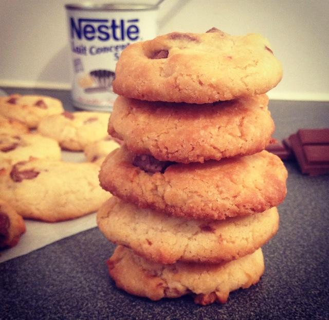 Biscuits au lait sucré concentré