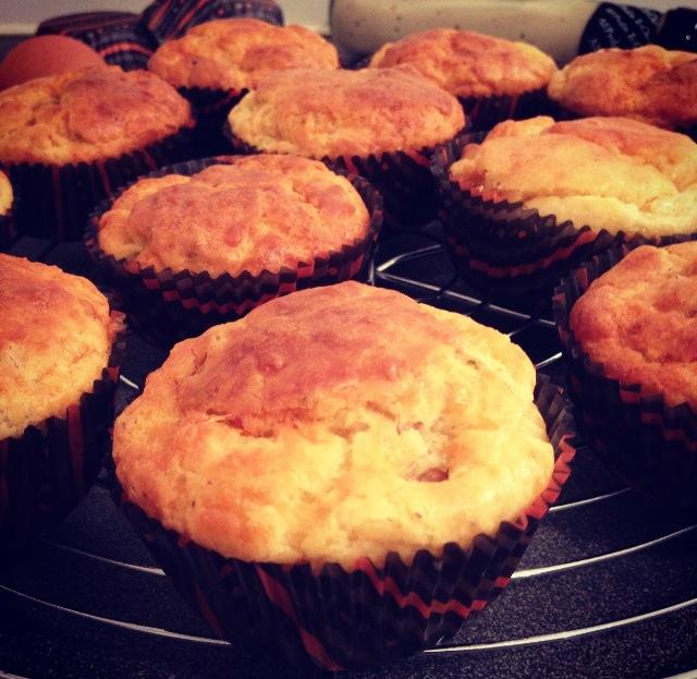 Muffins au comté et poulet