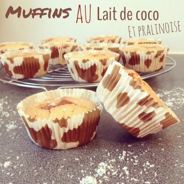 Muffins lait de coco et pralinoise