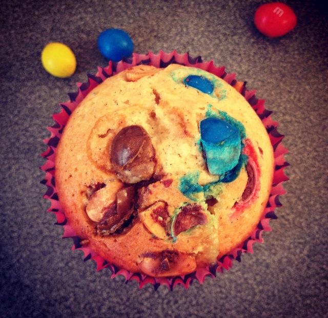 Muffins m&m's/pâte à tartiner