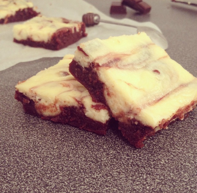Brownie/cheesecake