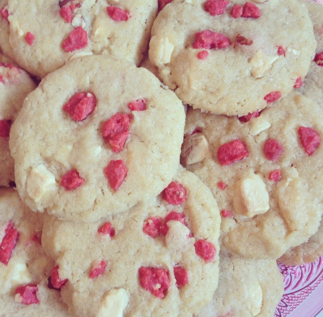 Cookies aux pralines roses