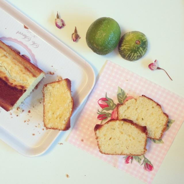 Cake citron vert/fleur d'oranger