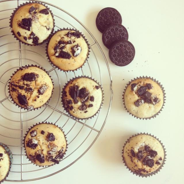 Muffins Oréos et pâte à tartiner