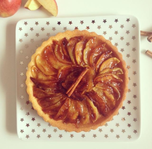 moelleux aux pommes caramélisées