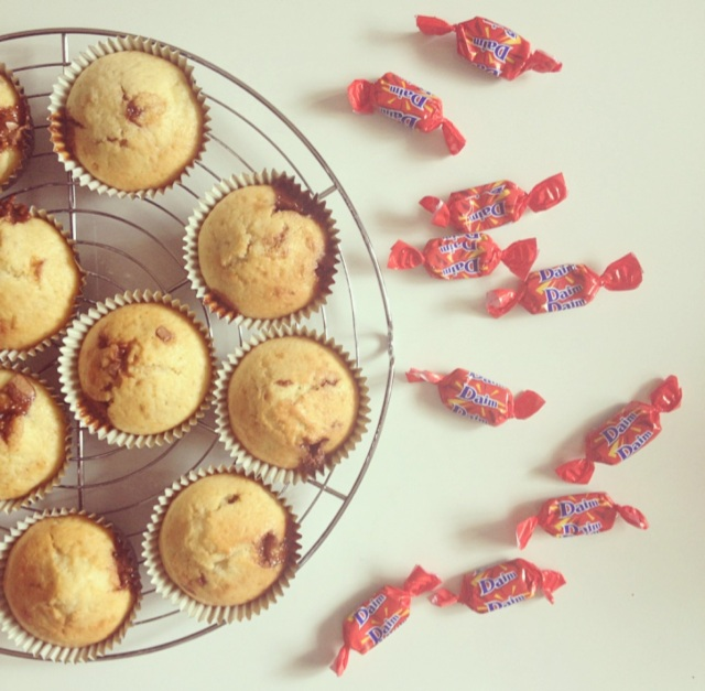 Muffins banane et Daims