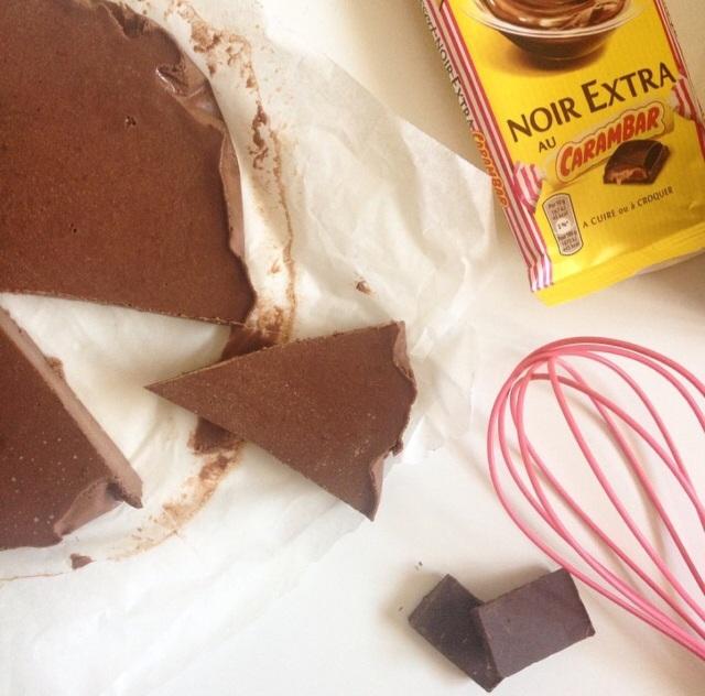 Mi-gâteau mi-flan chocolat /Carambar