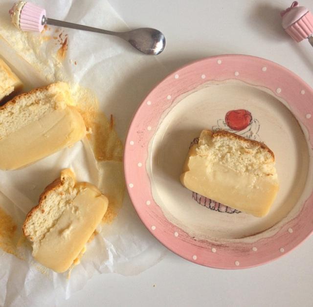 Cake magique au chocolat blanc