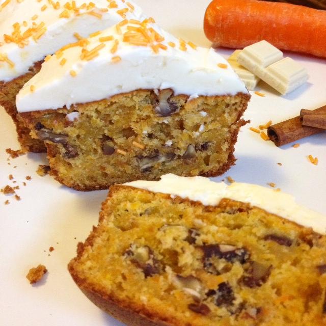 Carrot cake au chocolat blanc