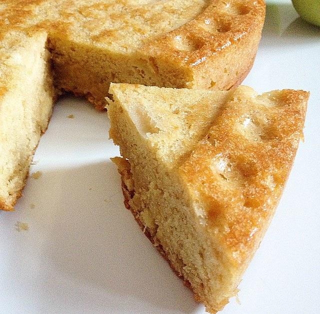 Gâteau aux pommes, cannelle et vanille
