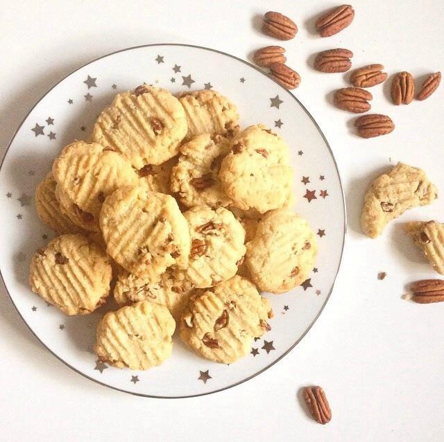 Biscuits miel, pécans et coco