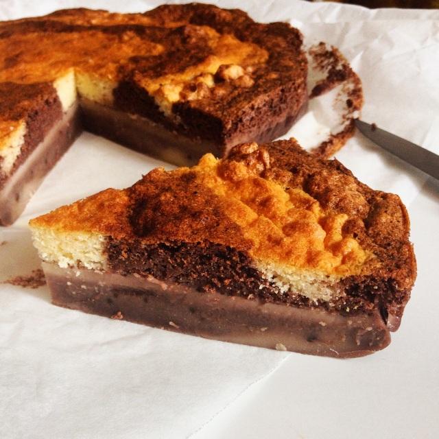 Gâteau magique marbré