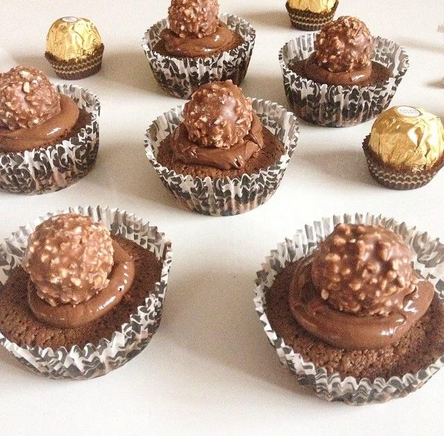 Muffins aux Ferrero Rocher et Nutella