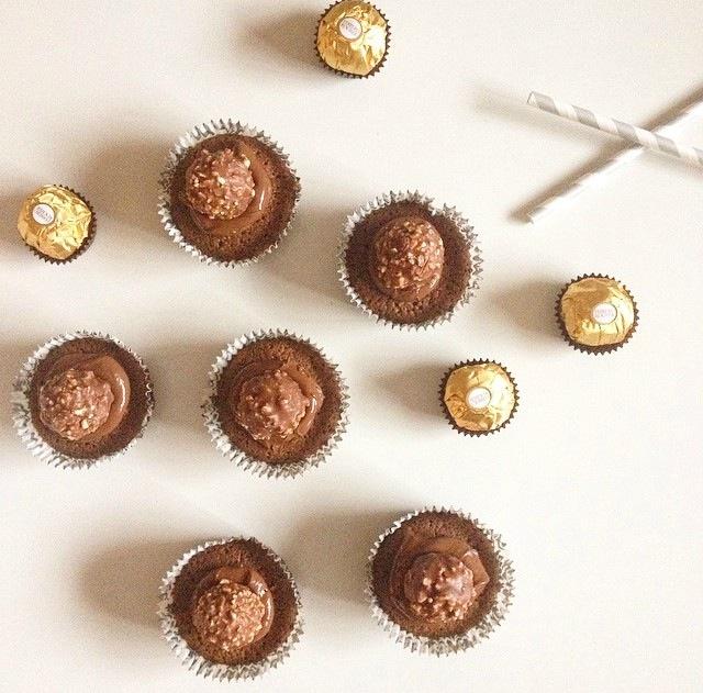 Muffins Ferrero Rocher et Nutella
